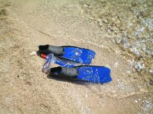 Schnorchelausrüstung Flossen Schwimmflossen