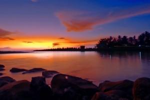 Sionneuntergang Indonesien Schnorchelgebiete Indonesien