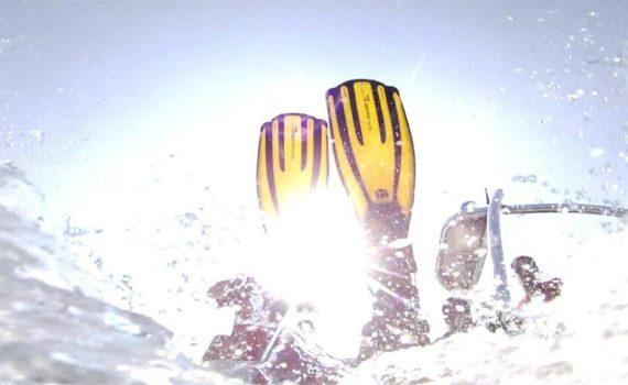 Kurze Schwimmflossen Test Schnorcheln