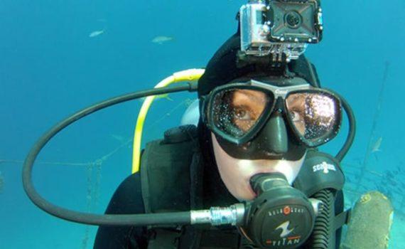 Taucherbrillen mit Kamera : GoPro Halterung